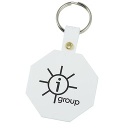 View a larger, more detailed picture of the Octagon Key Tag - Closeout