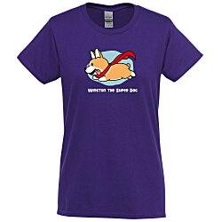View a larger, more detailed picture of the Gildan 6 1 oz Cotton T-Shirt - Ladies - FC - Colors