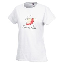 View a larger, more detailed picture of the Gildan SoftStyle T-Shirt - Ladies - FC - White