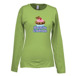 View a larger, more detailed picture of the Gildan SoftStyle LS T-Shirt - Ladies - FC - Colors