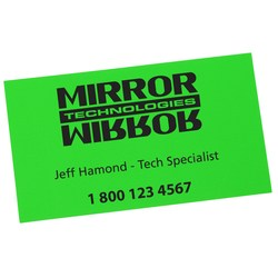 View a larger, more detailed picture of the Fluorescent Business Card Magnet - Closeout