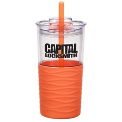 View a larger, more detailed picture of the Ripple Tumbler w Straw - 20 oz