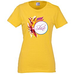 View a larger, more detailed picture of the Gildan 5 3 oz Cotton T-Shirt - Ladies - Full Color - Color
