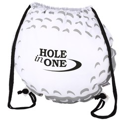 View a larger, more detailed picture of the Game Time Golf Ball Drawstring Backpack-Overstock