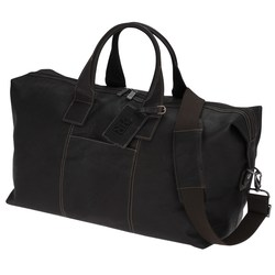 View a larger, more detailed picture of the Kenneth Cole Colombian Leather Weekender Duffel - 24 hr