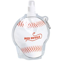 View a larger, more detailed picture of the HydroPouch Collapsible Bottle-24 oz - Baseball-Overstock