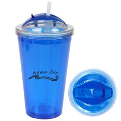 View a larger, more detailed picture of the Double Wall Acrylic Tumbler w Dome Lid - 16 oz - Overstock