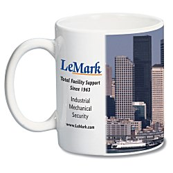 View a larger, more detailed picture of the White Mug with Full Color Process - 11 oz