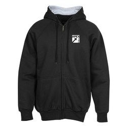 View a larger, more detailed picture of the Ultra Club Thermal-Lined Full Zip Sweatshirt - Screen