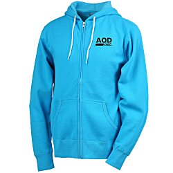 View a larger, more detailed picture of the Unisex Full-Zip Hooded Sweatshirt - Screen
