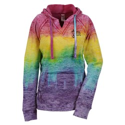 View a larger, more detailed picture of the Weatherproof Courtney Burnout Sweatshirt-Rainbow-Screen