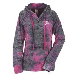 View a larger, more detailed picture of the Weatherproof Courtney Burnout Sweatshirt- Raspberry-Screen