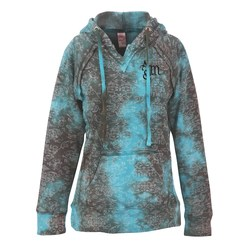 View a larger, more detailed picture of the Weatherproof Courtney Burnout Sweatshirt-Teal Wave-Screen