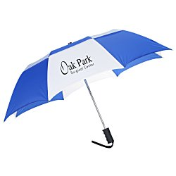 View a larger, more detailed picture of the Zephyr Folding Umbrella w Rubber Grip
