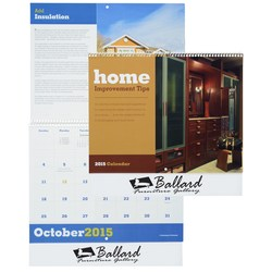 View a larger, more detailed picture of the Home Improvement Tips 2015 Calendar-Closeout