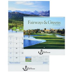 View a larger, more detailed picture of the Fairways & Greens 2015 Calendar - Spiral - Closeout