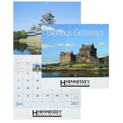 View a larger, more detailed picture of the Glorious Getaways 2015 Calendar - Stapled- Closeout