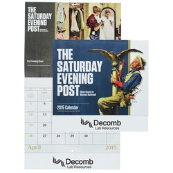 View a larger, more detailed picture of the Saturday Evening Post Norman Rockwell Calendar-Stpl-Closeout