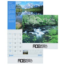View a larger, more detailed picture of the Healthy 2015 Living Calendar - Stapled - Closeout