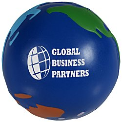 View a larger, more detailed picture of the Multi Colored Globe Stress Ball