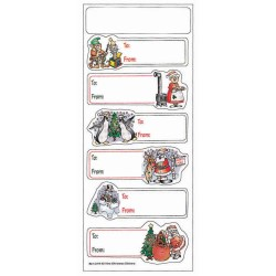 View a larger, more detailed picture of the Holiday Stickers - North Pole