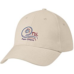 View a larger, more detailed picture of the Brushed-Cotton 6-Panel Cap - Emb