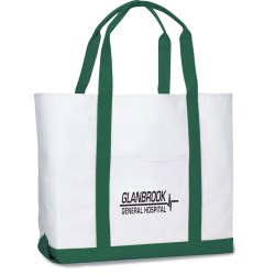 View a larger, more detailed picture of the Deluxe Polyester Tote - Large