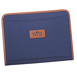 View a larger, more detailed picture of the Zippered Polyester Portfolio - Debossed