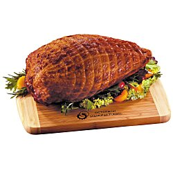 View a larger, more detailed picture of the Smoked Turkey Breast with Bamboo Cutting Board