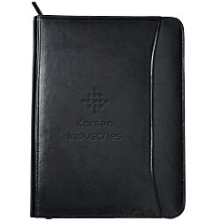 View a larger, more detailed picture of the Zippered Portfolio - Leather
