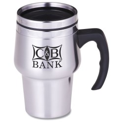 View a larger, more detailed picture of the Stainless Steel Travel Mug - 14 oz