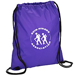View a larger, more detailed picture of the Sport Nylon Drawstring Backpack