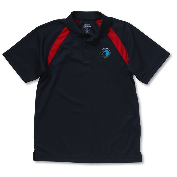 110221 y promotional products by 4imprint for Youth performance polo shirts