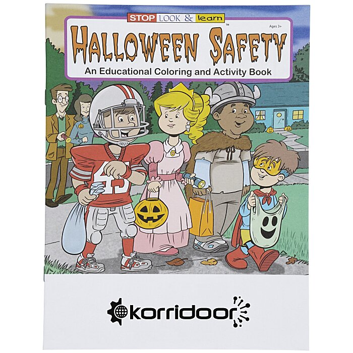 Halloween Safety Coloring Book Item No 1034 HWS From