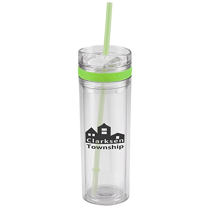Customized Tumbler with straw