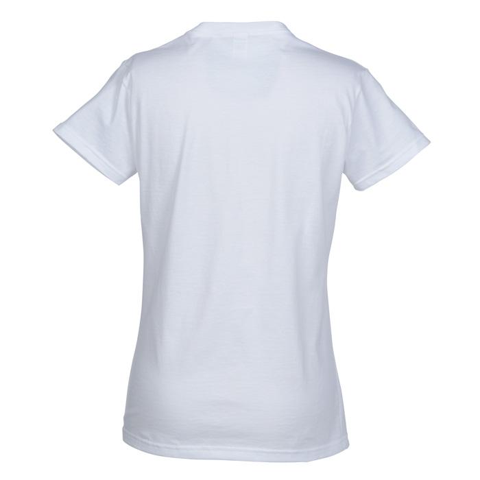 Anvil Ringspun 4 5 Oz V Neck T Shirt Ladies 39 White